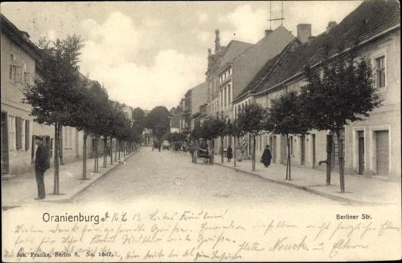 Ak Oranienburg in Brandenburg, Berliner Straße 0