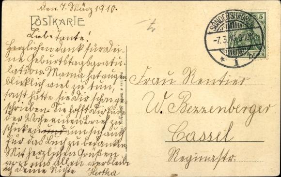 Ak Sondershausen im Kyffhäuserkreis Thüringen, Partie am Kriegerdenkmal 1