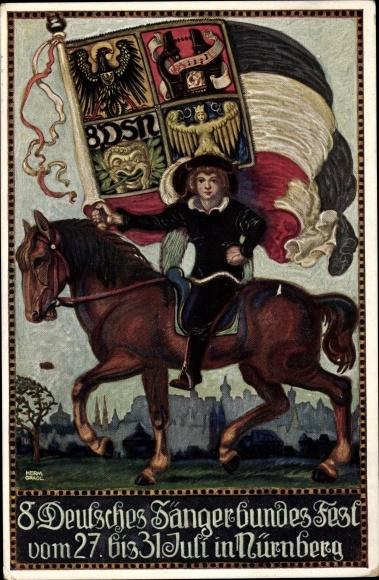 Ak Nürnberg in Mittelfranken Bayern, 8. Deutsches Sängerbundesfest, 27. - 31.7.1912 0