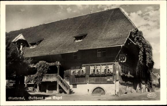 Ak Glottertal im Schwarzwald, Gasthaus zum Engel, Bes. Fräßle 0