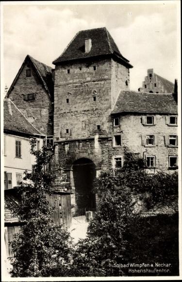 Ak Bad Wimpfen am Neckar, Hohenstaufen Tor 0