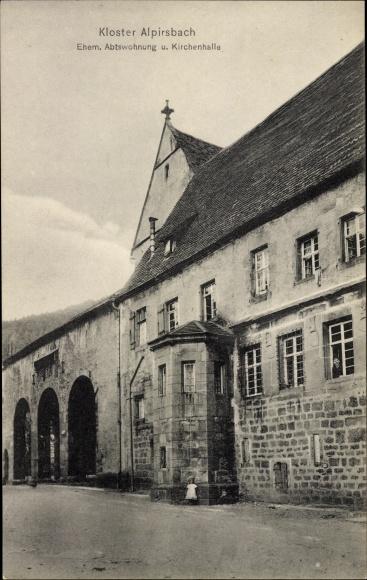 Ak Alpirsbach im Kreis Freudenstadt, Ehem. Abtswohnung, Kirchenhalle 0