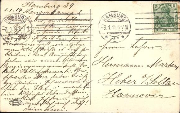 Ak Hamburg, Festzug zur Jahrhundertfeier 1913, Rückkehr der Kosaken, Reiter 1
