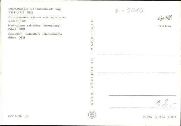 Ak Erfurt in Thüringen, Internationale Gartenbauausstellung, IGA, Anlagen, Eingang, Besucher 1