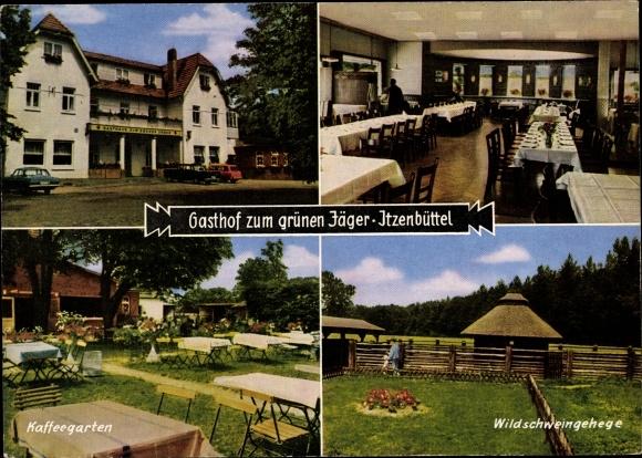 Ak Itzenbüttel Jesteburg in Niedersachsen, Gasthof zum grünen Jäger, Inh. Herbert Keller 0