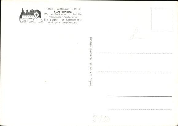 Ak Neukloster Buxtehude in Niedersachsen, Hotel Restaurant Klosterkrug, Inh. Werner Beckmann 1