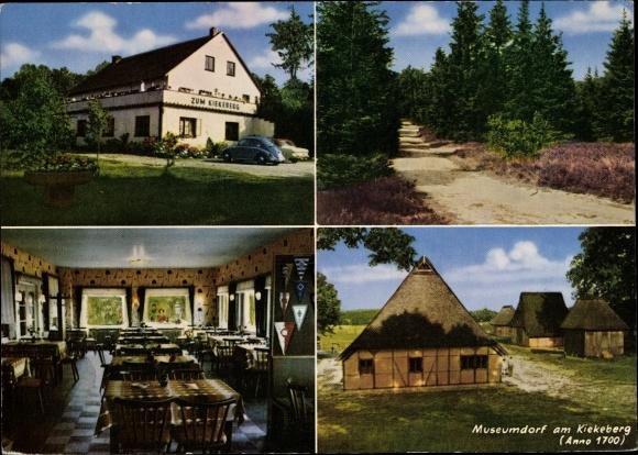 Ak Ehestorf Rosengarten in Niedersachsen, Zum Kiekeberg, Inh. H. Schuster, Museumdorf 0