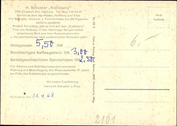 Ak Ehestorf Rosengarten in Niedersachsen, Zum Kiekeberg, Inh. H. Schuster, Museumdorf 1