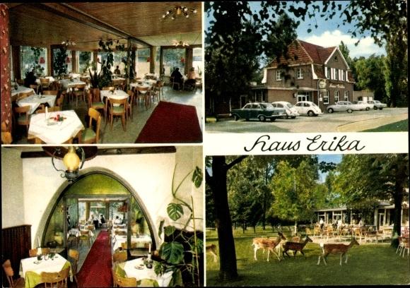 Ak Wankum Wachtendonk in Nordrhein Westfalen, Haus Erika, Inh. H. Lürpen, Wildgehege 0