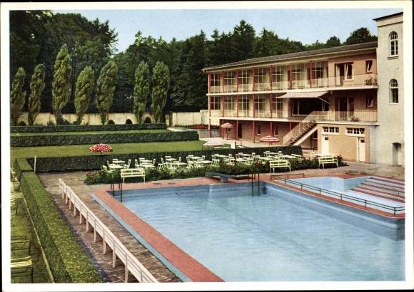 Ak Breitscheid Ratingen Nordrhein Westfalen, Hotel Krummenweg, Inh. J. Doerenkamp, Schwimmbad 0