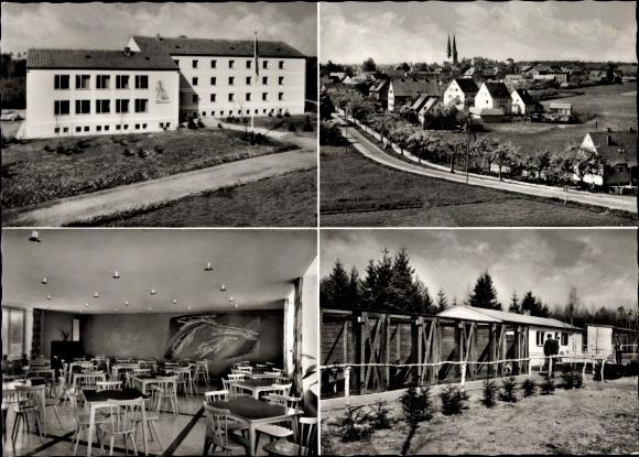 Ak Neuendettelsau Mittelfranken, Zollhundeschule, Teilansicht der Zwingeranlage 0