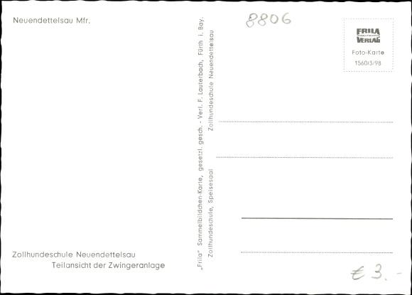 Ak Neuendettelsau Mittelfranken, Zollhundeschule, Teilansicht der Zwingeranlage 1