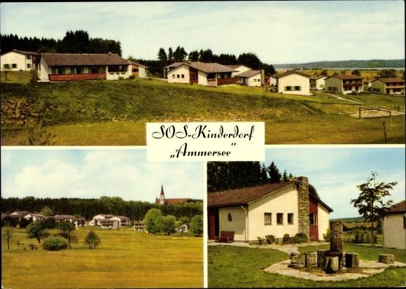 Ak Dießen am Ammersee Oberbayern, SOS Kinderdorf, Wohnhäuser, Siedlung 0
