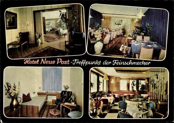 Ak Biessenhofen Allgäu, Hotel Neue Post, Treffpunkt der Feinschmecker 0