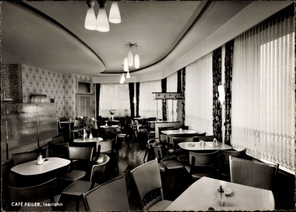Ak Iserlohn im Märkischen Kreis, Cafe Peiler am Schillerplatz, Innenansicht