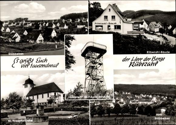 Ak Stübbeken Letmathe Iserlohn, Gaststätte Rübezahlbaude v. J. Adolf, Humpfert Aussichtsturm 0