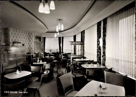 Ak Iserlohn im Märkischen Kreis, Cafe Peiler am Schillerplatz, Innenansicht 0