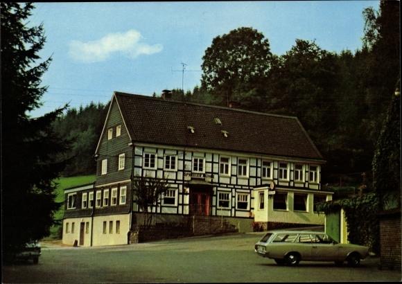 Ak Königsfeld Ennepetal der Kluterthöhle, Cafe Restaurant Spreeler Mühle, Inh. Lotte Holländer