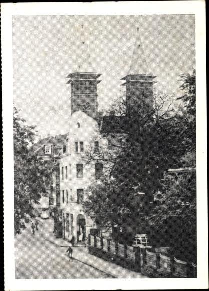 Ak Schwelm in Westfalen, Türme der Christuskirche mit restaurierten Helmen 0