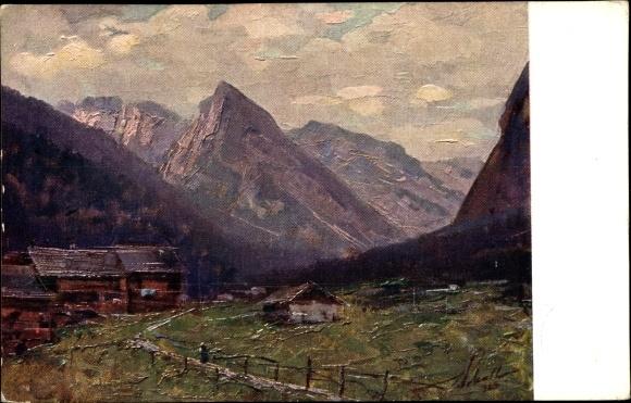 Künstler Ak Polesello, E., Südtirol, Il Col Rosà, Landschaftsansicht mit Bergen 0