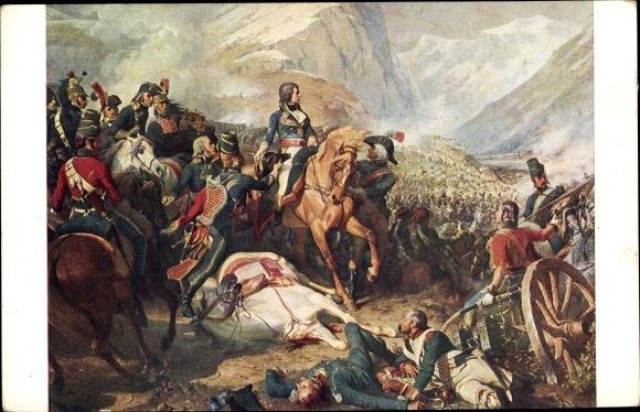 Künstler Ak Philippoteaux, Le Général Bonaparte à la Bataille de Rivoli, 14 Janvier 1797 0