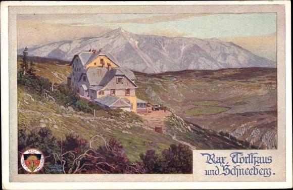 Künstler Ak Jahn, Gustav, Rax, Törlhaus, Schneeberg, Deutscher Schulverein 522 0