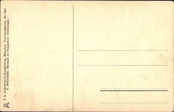 Künstler Ak Boucher, F., Madame de Pompadour, Ludwig XV., Mätresse, Ackermann 2421 1