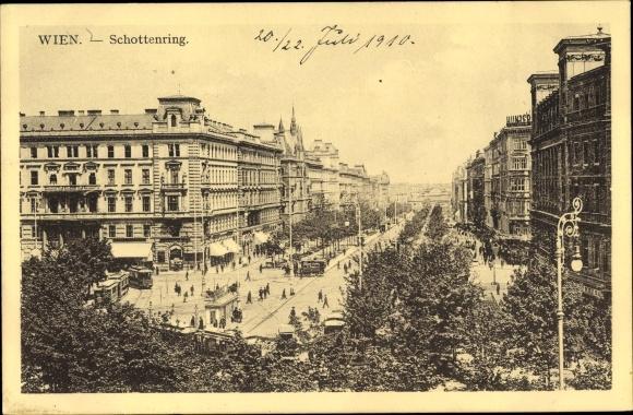 Ak Wien 9. Alsergrund Österreich, Schottenring, Straßenansicht 0