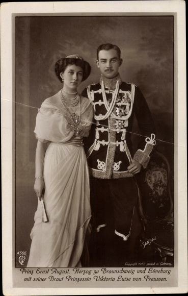 Ak Herzog Ernst August von Braunschweig, Prinzessin Viktoria Luise 0