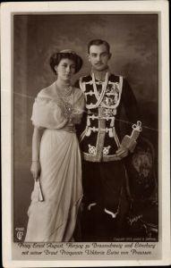 Ak Herzog Ernst August von Braunschweig, Prinzessin Viktoria Luise