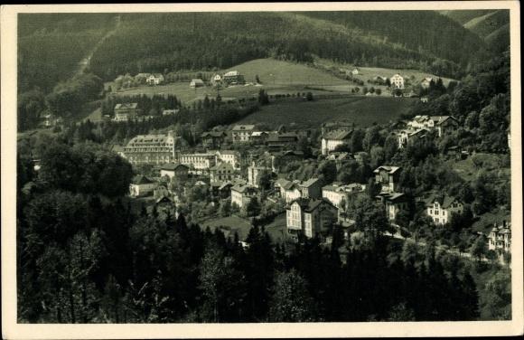 Ak Janské Lázně Johannisbad Reg. Königgrätz, Panorama vom Ort 0