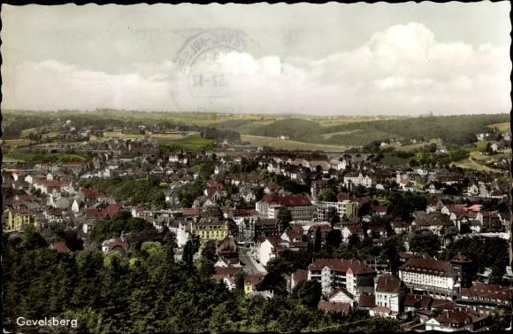 Ak Gevelsberg im Ruhrgebiet, Panorama vom Ort 0