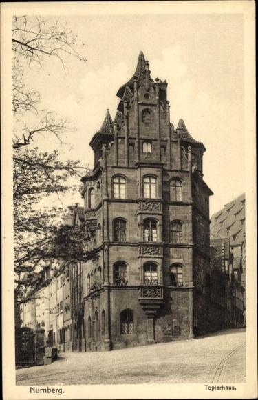 Ak Nürnberg in Mittelfranken Bayern, Toplerhaus, Strassenansicht 0