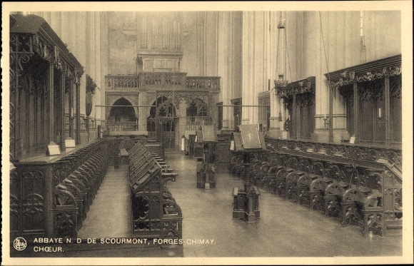 Ak Forges Chimay Wallonien Hennegau, Abbaye N. D. de Scourmont, Choeur