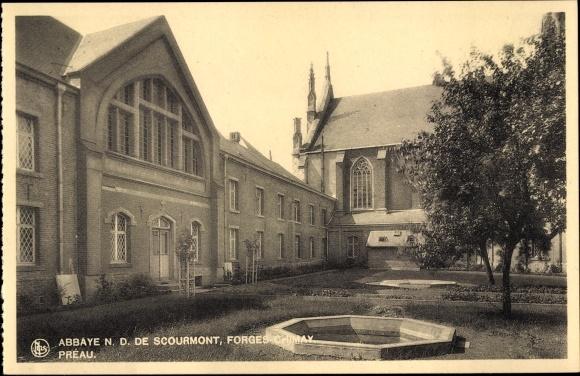 Ak Forges Chimay Wallonien Hennegau, Abbaye N. D. de Scourmont, Préau