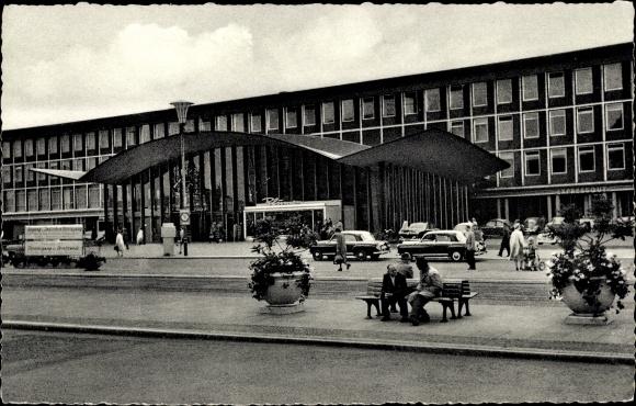 Ak Bochum im Ruhrgebiet, Blick auf den Hauptbahnhof  0