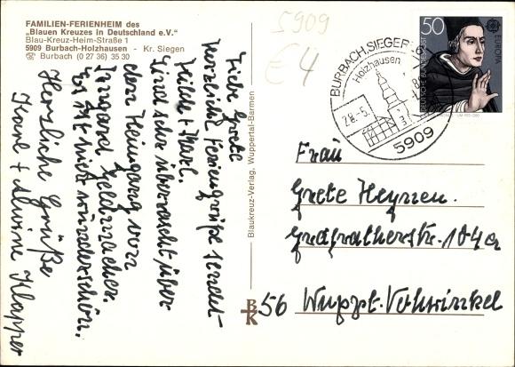 Ak Burbach Nordrhein Westfalen, Familienferienheim Blaues Kreuz  1