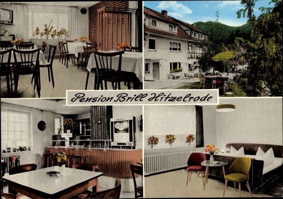 Ak Hitzelrode Meinhard im Werra Meißner Kreis, Pension Brill, Inh. M. Sodies 0