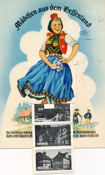 Leporello Ak Bad Sooden Allendorf in Hessen, Mädchen aus dem Hessenland  0