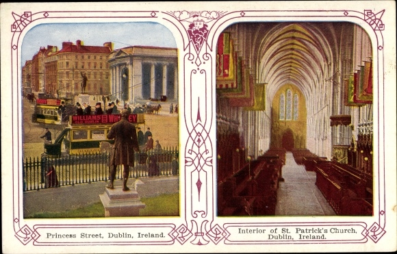 Ak Dublin Irland, Princess Street, Interior of St. Patricks Church 0