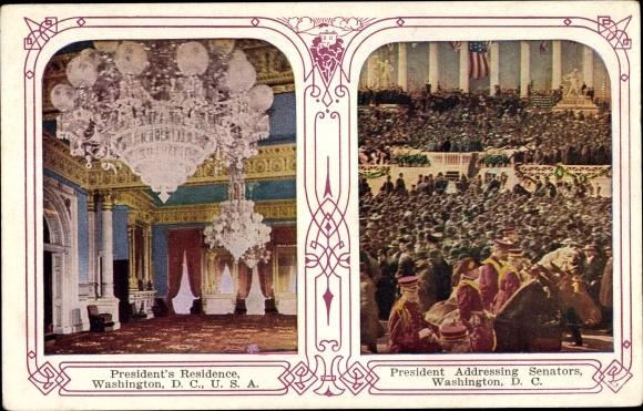 Ak Washington DC USA, Presidents Residence, President Addressing Senators 0