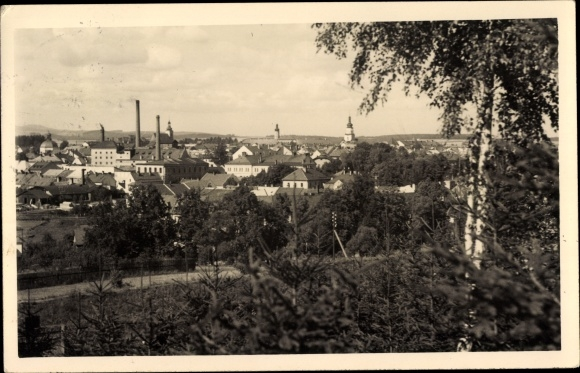 Ak Bruntál Freudenthal Reg. Mährisch Schlesien, Stadtpanorama 0