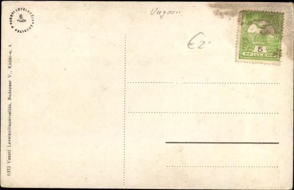 Ak Hatvan Hottwan Ungarn, Kastely, Gartenpartie 1