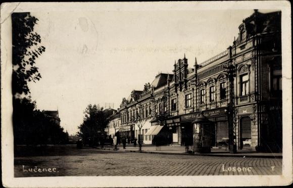 Foto Ak Lučenec Lizenz Slowakei, Losonc, Geschäft, Inh. Gyari Cipo 0