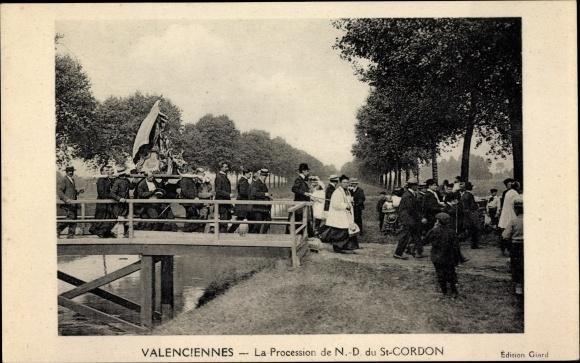 Ak Valenciennes Nord, La Procession de N.-D. du St. Cordon 0
