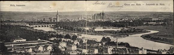 Klapp Ak Metz Moselle, Stadtpanorama, Kathedrale 0