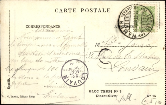 Ak Givet Ardennes, Citadelle de Charlemont, Vue prise de Petit Givet 1
