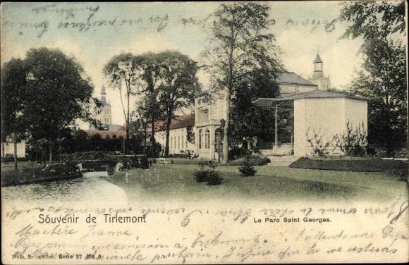 Ak Tienen Tirlemont Flandern Flämisch Brabant, Le Parc Saint Georges