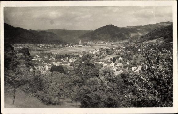 Foto Ak Velké Březno Großpriesen Region Aussig, Panorama vom Ort 0