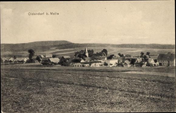Ak Oldendorf Melle in Niedersachsen, Blick auf Ortschaft und Umgebung 0